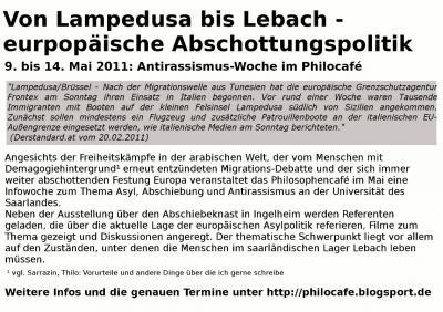 Von Lampedusa bis Lebach